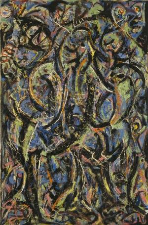 Jackson Pollock Gothic Yağlı Boya Klasik Sanat Canvas Tablo