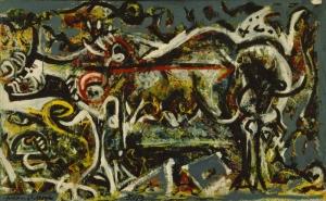 Jackson Pollock Kurt Kız Yağlı Boya Klasik Sanat Canvas Tablo