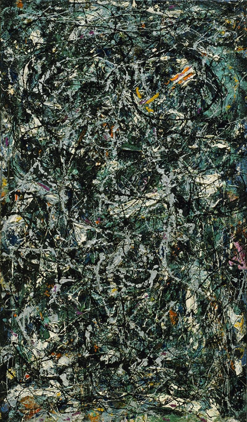 Jackson Pollock Özgür Tasarım 1 Yağlı Boya Klasik Sanat Canvas Tablo