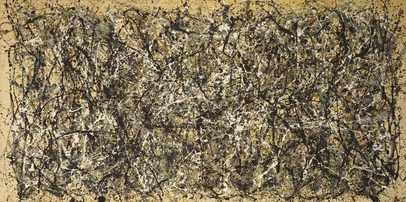 Jackson Pollock Özgür Tasarım 4 Yağlı Boya Klasik Sanat Canvas Tablo