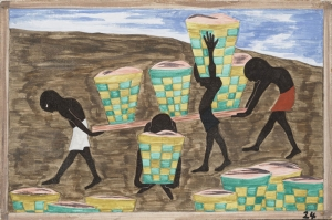 Jacob Lawrence Cahillik Boya Klasik Sanat Canvas Tablo