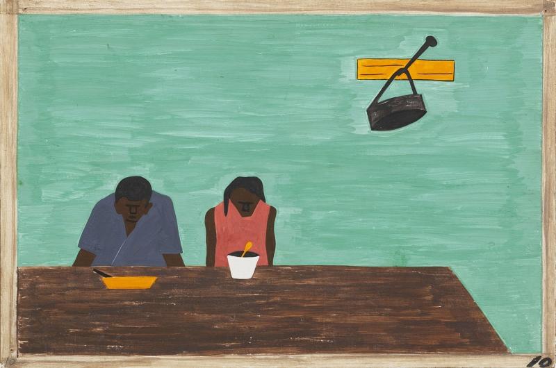 Jacob Lawrence Çok Fakirlerdi Yağlı Boya Klasik Sanat Canvas Tablo
