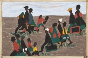 Jacob Lawrence Cok Fazla Sayıda Gelen Mülteciler Yağlı Boya Klasik Sanat Canvas Tablo