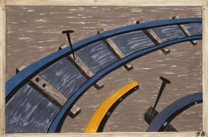 Jacob Lawrence Demir Yolu Yapımı Yağlı Boya Klasik Sanat Canvas Tablo
