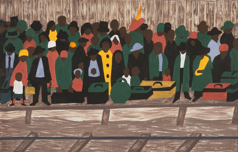 Jacob Lawrence Devamli Gelen Mülteciler Boya Klasik Sanat Canvas Tablo