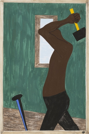 Jacob Lawrence Diğerlerine Nazaran Zenci İş Gücü Daha Fazlaydı Klasik Sanat Canvas Tablo