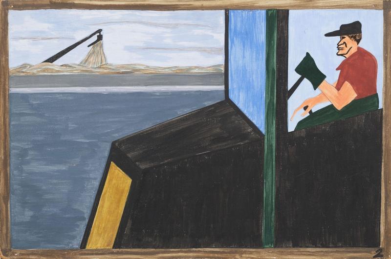Jacob Lawrence Dunya Savaşının Sonuçları Eve Dönüş Yağlı Boya Klasik Sanat Canvas Tablo