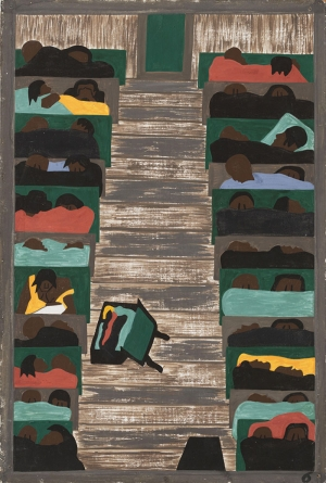 Jacob Lawrence Göçmenlerle Dolu Trenler  Klasik Sanat Canvas Tablo