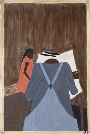 Jacob Lawrence Güneydeki Zenci Basını Yağlı Boya Klasik Sanat Canvas Tablo