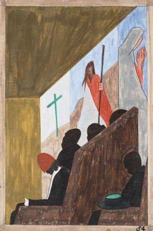 Jacob Lawrence Kilisedeki Göçmenler Yağlı Boya Klasik Sanat Canvas Tablo