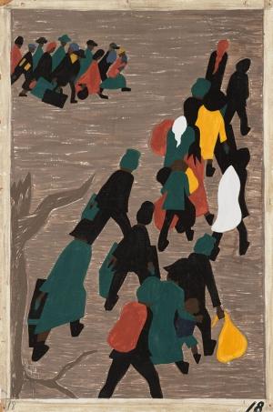 Jacob Lawrence Momentum Kazanan Göç Dalgası Yağlı Boya Klasik Sanat Canvas Tablo