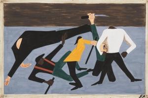 Jacob Lawrence St Louis'deki En Kapsamlı Yarış Yağlı Boya Klasik Sanat Canvas Tablo