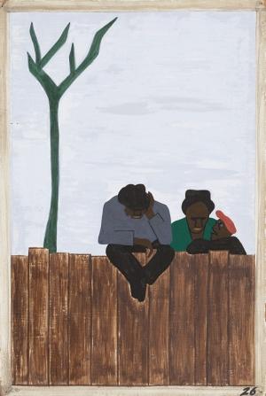 Jacob Lawrence Tartişan İnsanlar Boya Klasik Sanat Canvas Tablo