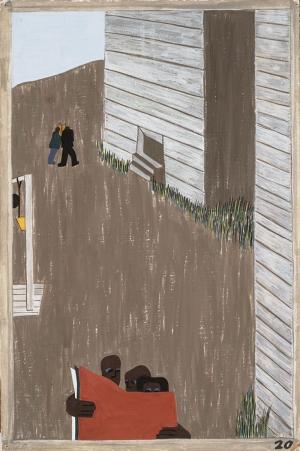 Jacob Lawrence Zenci Hareketleri Basını Yağlı Boya Klasik Sanat Canvas Tablo