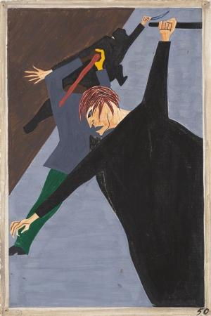 Jacob Lawrence Zenci Ve Beyazlar Arasındaki Gerginlik Yağlı Boya Klasik Sanat Canvas Tablo