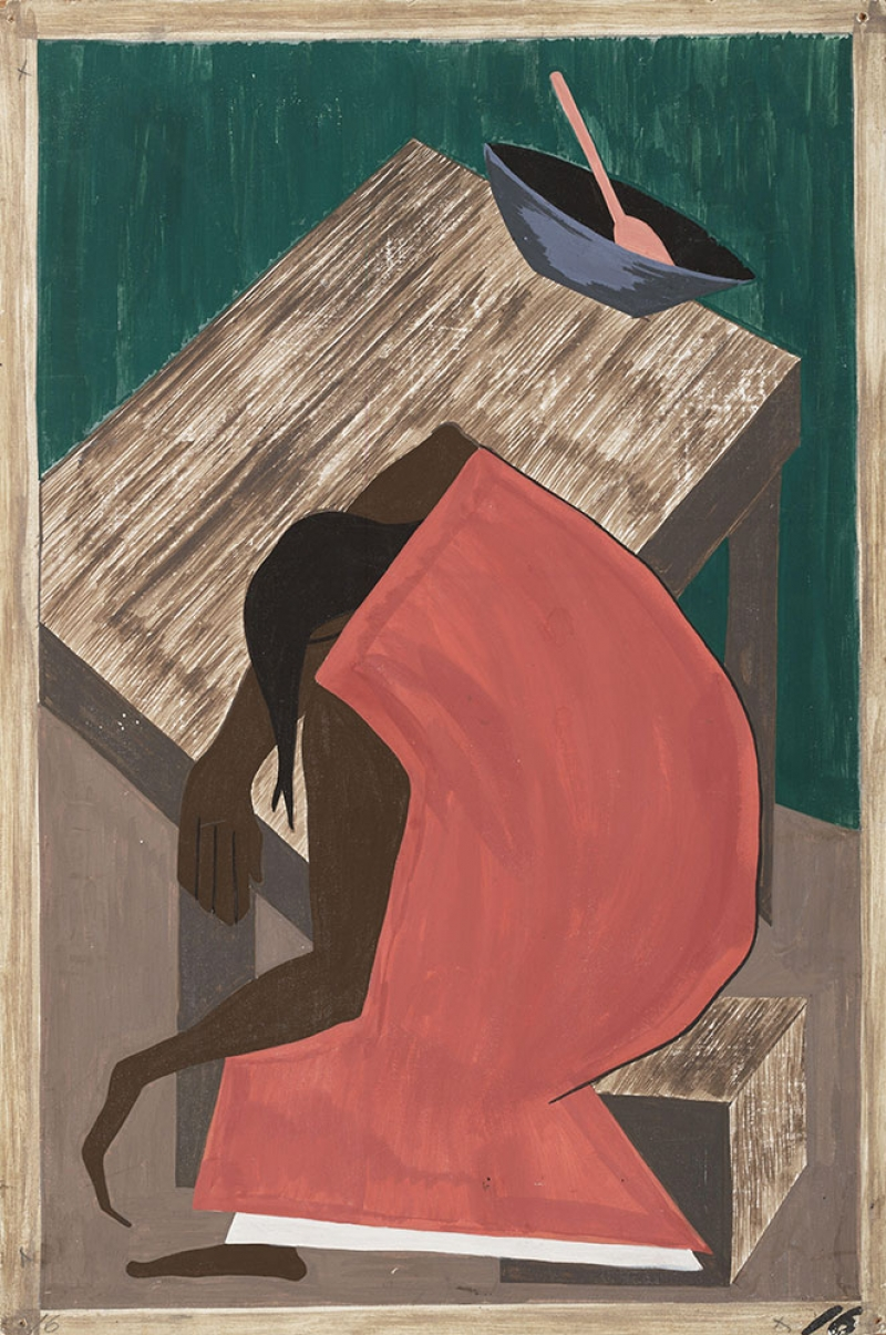 Jacob Lawrence Zenci Yağlı Boya Klasik Sanat Canvas Tablo