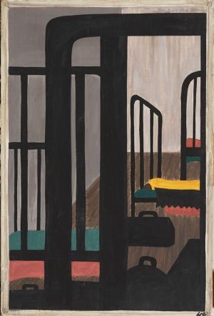 Jacob Lawrence Zenciler İçin Ev Bulma Gerçekten Çok Zordu Yağlı Boya Klasik Sanat Canvas Tablo