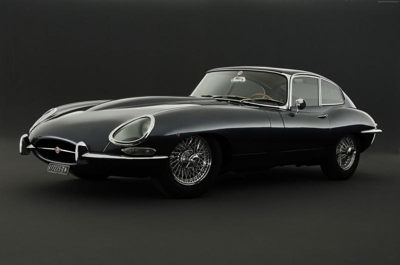 Jaguar 2 Klasik Otomobiller Eski Klasik Arabalar Poster Araclar Kanvas Tablo