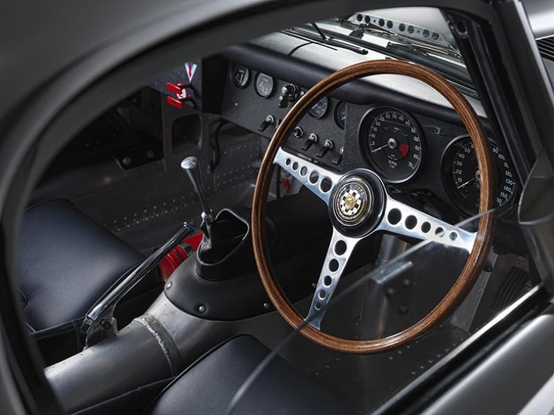 Jaguar Klasik Spor Otomobil İç Donanım Kanvas Tablo
