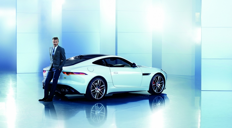 Jaguar ve David Beckham Araçlar Kanvas Tablo