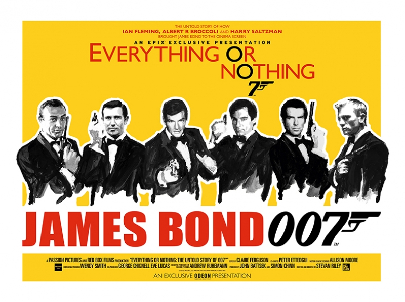 James Bond 007 Retro Afiş Kanvas Tablo