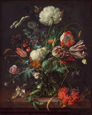 Jan Davidsz De Heem 1 Vazo İçinde Çiçekler Klasik Sanat Kanvas Tablo