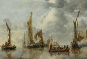 Jan Van De Cappelle Yağlı Boya Sanat Kanvas Tablo