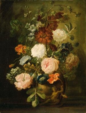 Jan Van Huysum 3 Vazo İçinde Çiçekler Klasik Sanat Kanvas Tablo
