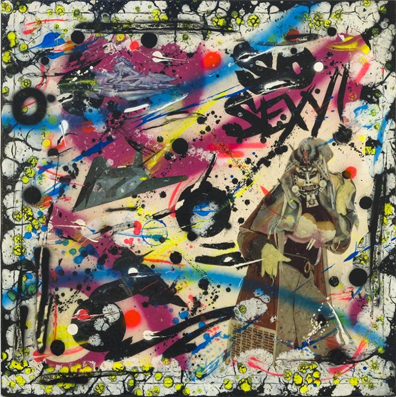 Japon Kolaj Kompozisyon Abstract Soyut Yağlı Boya Sanat Kanvas Tablo