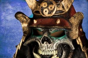 Japon Samuray Maskesi-3 Kanvas Tablo