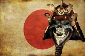 Japon Samuray Maskesi-5 Kanvas Tablo