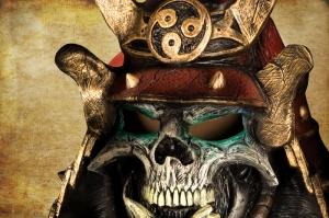 Japon Samuray Maskesi Kanvas Tablo