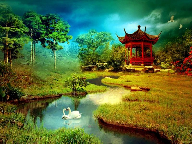 Japon Sanatı Doğa Kanvas Tablo