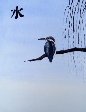 Japon Sanatı Kuş Hayvanlar Kanvas Tablo