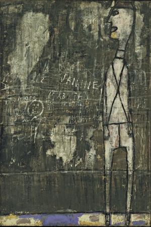 Jean Dubuffet Duvardaki Notlar Abstract Yagli Boya Klasik Sanat Kanvas Tablo