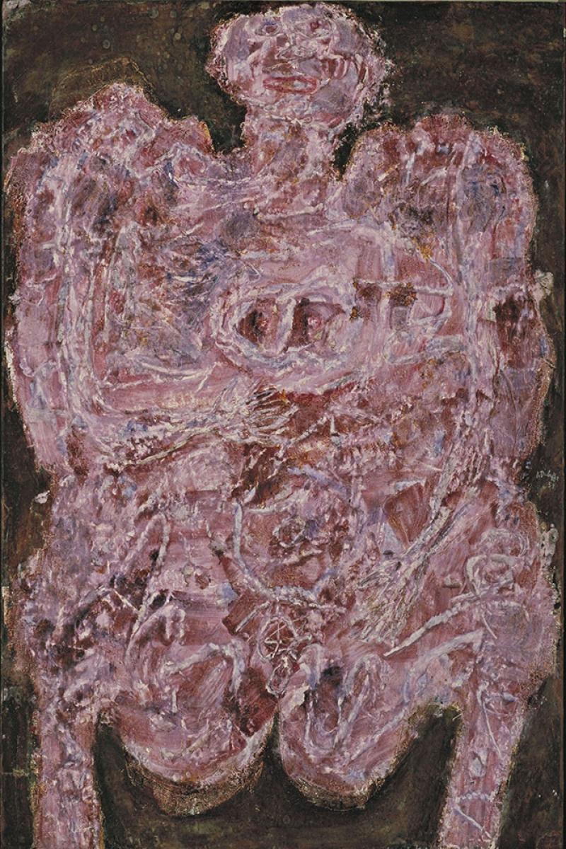 Jean Dubuffet Mavi Kisa alka Abstract Yagli Boya Klasik Sanat Kanvas Tablo
