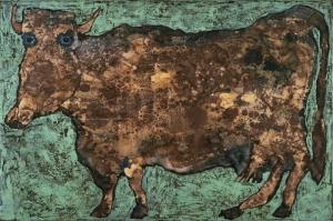 Jean Dubuffet Uzun Burunlu Inek Abstract Yagli Boya Klasik Sanat Kanvas Tablo