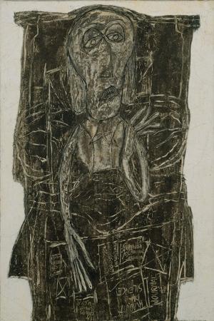 Jean Dubuffet Yatakta Basket Abstract Yagli Boya Klasik Sanat Kanvas Tablo