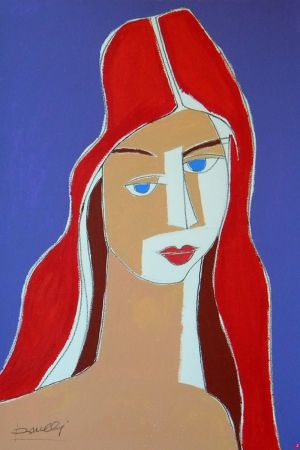 Jeanne Hebuterne Portresi Sanat Kanvas Tablo