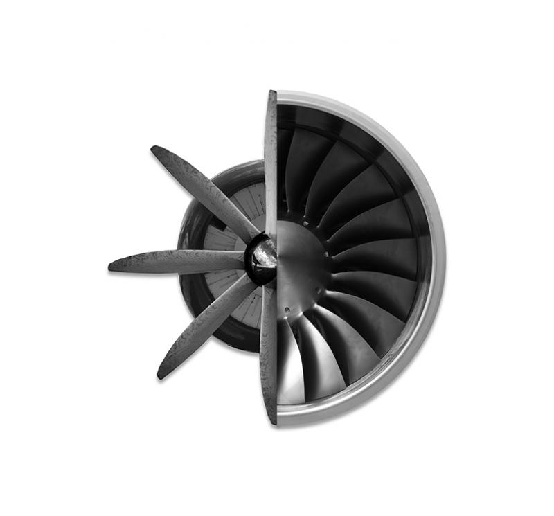 Jet Uçak Pervane Kanvas Tablo