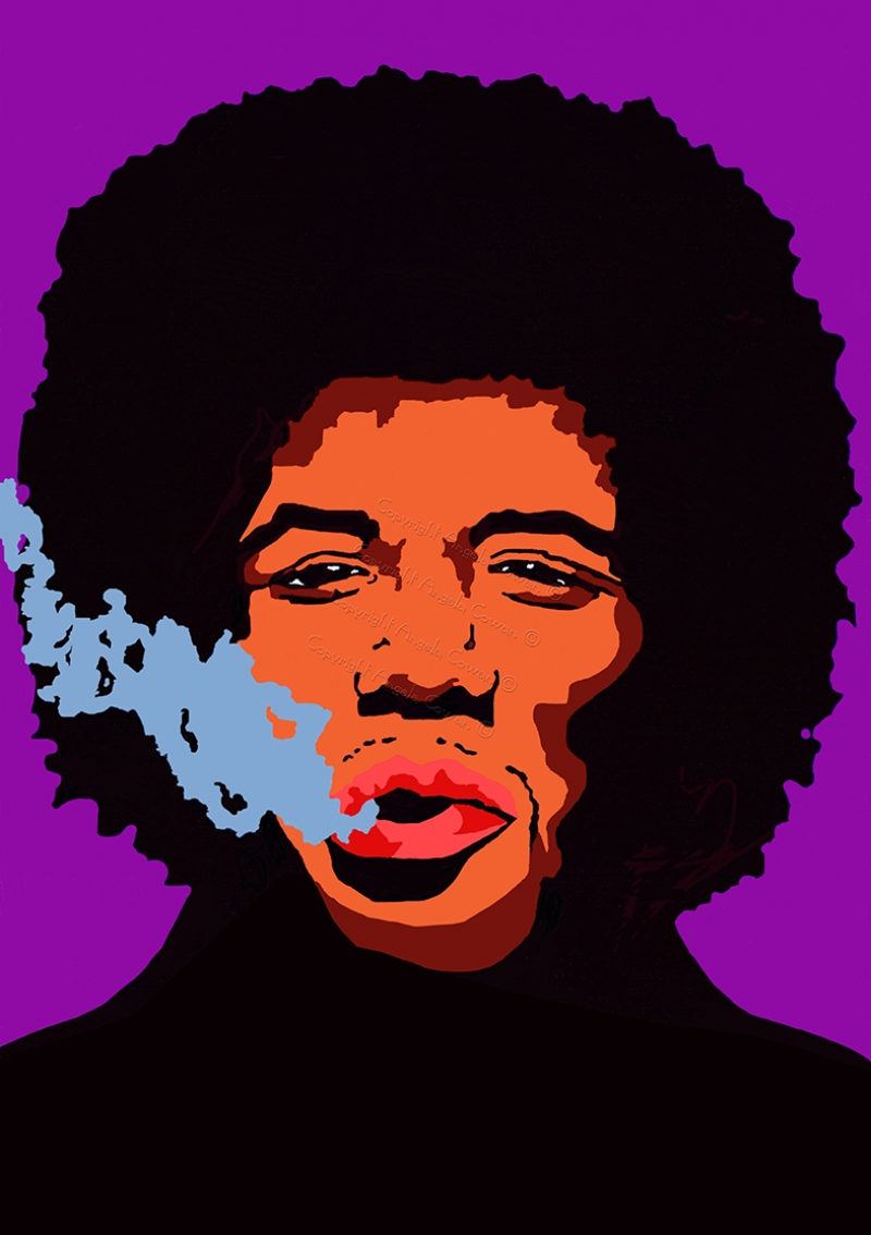 Jimmy Hendrix Popüler Kültür Kanvas Tablo