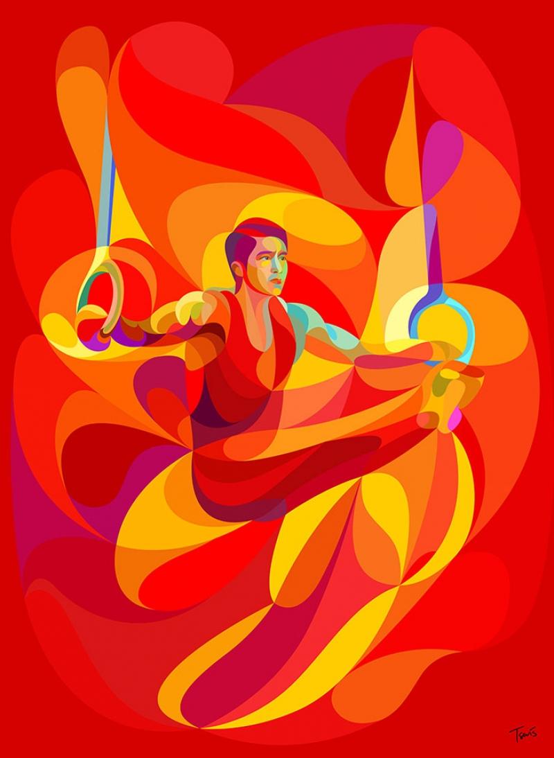 Jimnastik Fantastik Abstract Kanvas Tablo