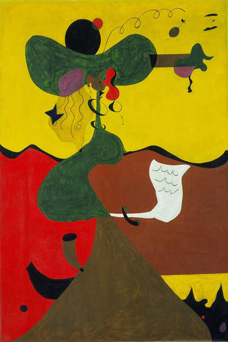 Joan Miro Degirmen Abstract Yagli Boya Klasik Sanat Kanvas Tablo