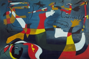 Joan Miro Ironik Ask Yagli Boya Klasik Sanat Kanvas Tablo
