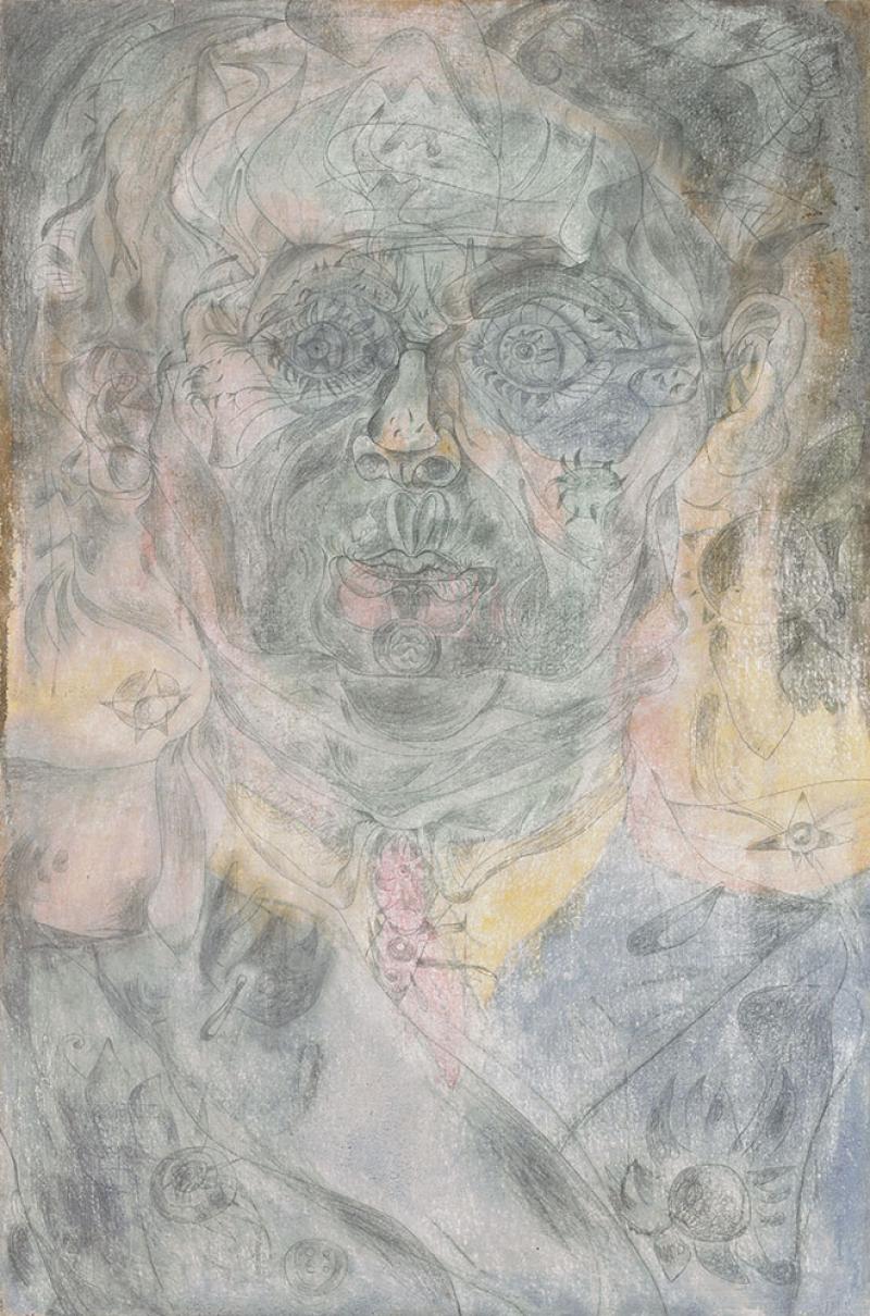 Joan Miro Kendi Portresi Yagli Boya Klasik Sanat Kanvas Tablo