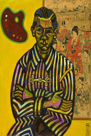 Joan Miro Portre Enric Cristofol Ricart Yagli Boya Klasik Sanat Kanvas Tablo