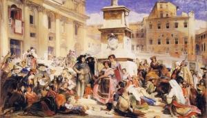 John Frederick Lewis Paskalya Roma İtalya Yağlı Boya Klasik Sanat Kanvas Tablo