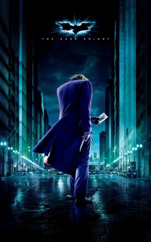 Joker Kara Şovalye Batman Afiş Kanvas Tablo