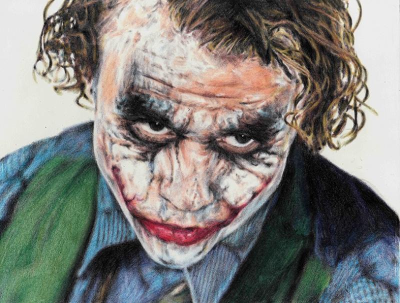 Joker Kara Şövalye Süper Kahramanlar Kanvas Tablo