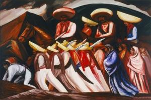 Jose Clemente Orozco Zapatalar Yagli Boya Klasik Sanat Kanvas TabloJ